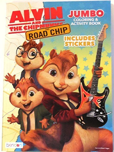 Alvin and the Chipmunks The Road Chip Jumbo Coloring & Activity Book Includes Stickers