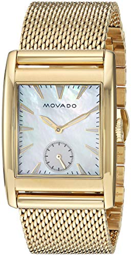 (Movado Women's Heritage Swiss-Quartz Watch with Gold-Plated-Stainless-Steel Strap, 20.7 (Model:)