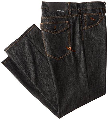 Rocawear Men's Big-Tall R Script Jean, Raw Black, 50B