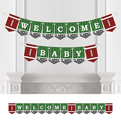 (Big Dot of Happiness End Zone - Football - Baby Shower Bunting Banner - Sports Party Decorations - Welcome)