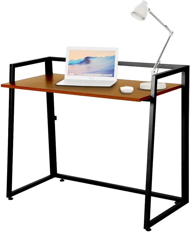 EUREKA ERGONOMIC Scrivania Pieghevole per Computer Portatile Facile da Montare per Studio e Scrittura per casa Ufficio Colore Quercia