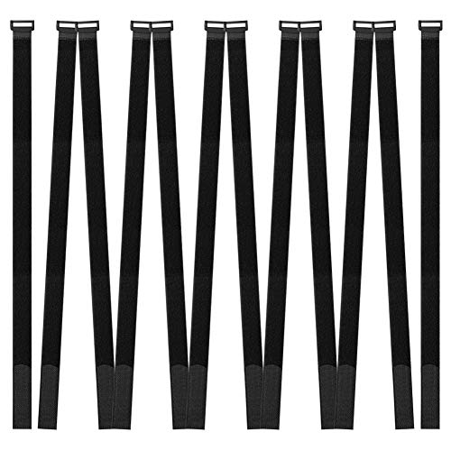Hanete 12 Pack 24 inch Reusable Fastening Cable Straps, Hook and Loop Cable Tie Wraps Cinch Cable Tie Down Straps