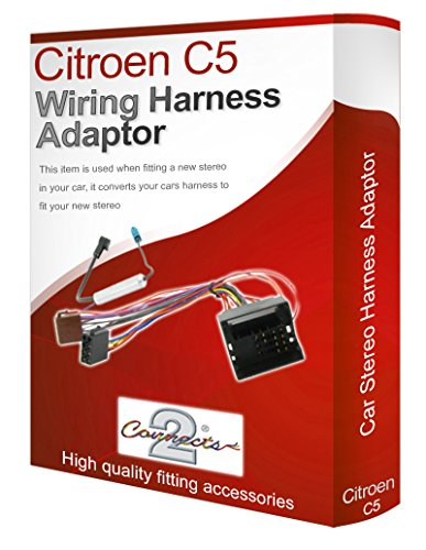 C5 radio stereo wiring harness adapter lead loom ISO: Amazon.co.uk: Electronics