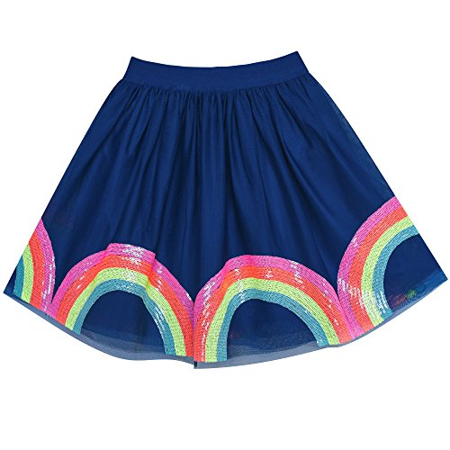 (Girls Skirt Colorful Rainbow Sequins Sparkling Tutu Dancing Size 6)