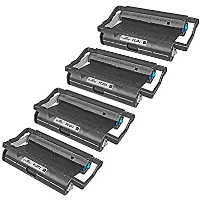 Speedy Inks - 4PK Brother PC201 Compatible Fax Cartridge with Roll for use in Brother Intellifax 1170, 1270, 1270e, 1570MC, 1575MC, MFC-1770, MFC-1780, MFC-1870MC, MFC-1970MC