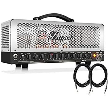 bugera t50 infinium cage style 50 watt 2 channel tube guitar amplifier head with. Black Bedroom Furniture Sets. Home Design Ideas