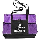 Ballet Dance Girl Gabriela: Gemline Select Zippered Tote Bag