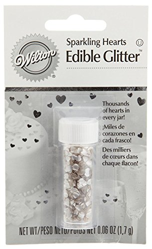 Wilton Edible Glitter, Silver Hearts