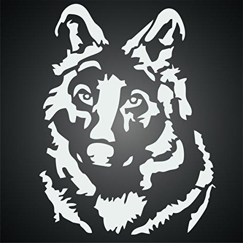 Wolf Stencil 10 X 13 Inch M Reusable Dog Wild Animal