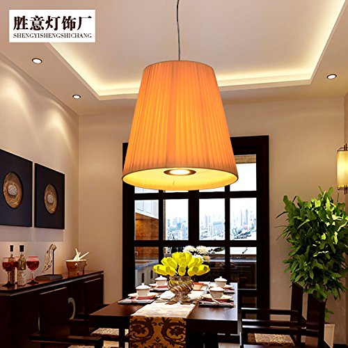 - CLG-FLY Chinese restaurant lights, chandeliers, restaurants, fabric chandeliers, creative aisle decoration, single head