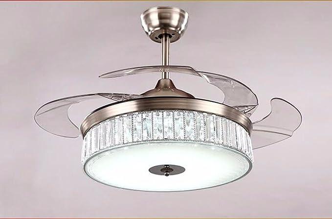 Ventilador de techo con lámpara de araña LED sala de estar ...