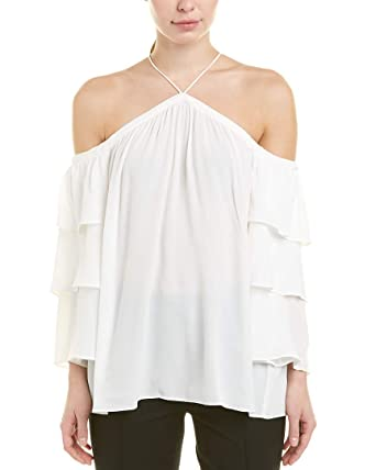 dead47c084231 1.State Womens Cold Shoulder Tiered Sleeve Blouse at Amazon Women s  Clothing store