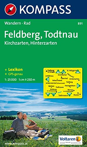 Feldberg, Todtnau: Kirchzarten, Hinterzarten. Wandern / Rad. 1:25.000. GPS-genau