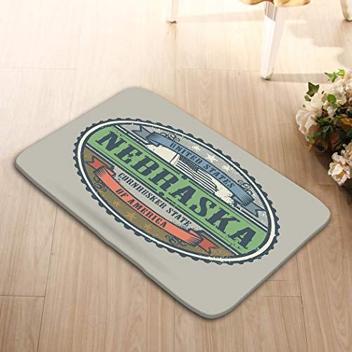 Non-Slip Doormat Non-Woven Fabric Floor Mat Indoor Entrance Rug Decor Mat 23.6