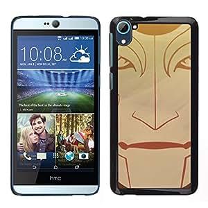 HTC Desire D826 , JackGot - Impreso colorido protector duro espalda Funda piel de Shell (Tribal Face)