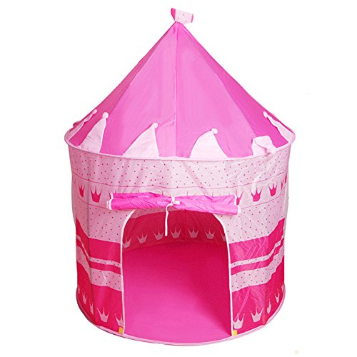 Buy Bekith Princess Castle Pink Children Play Tent for Indoor/Outdoor Use, Foldable with Carrying Ca...