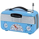 Retro Blue AM/FM RadioA true blast from the past, this vintage-style radio looks delightfully charming while playing your favorite hits!Features telescoping antenna, dials for AM/FM bands, station selection, and volume control, 4 foam-tipped ...