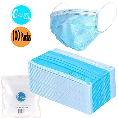 For 100 Layer Non-woven Pcs Medical 3 filter 1 Mask daily Adult Mask C-nuts filter Protective Health Masks Anti-dust Disposable Mask
