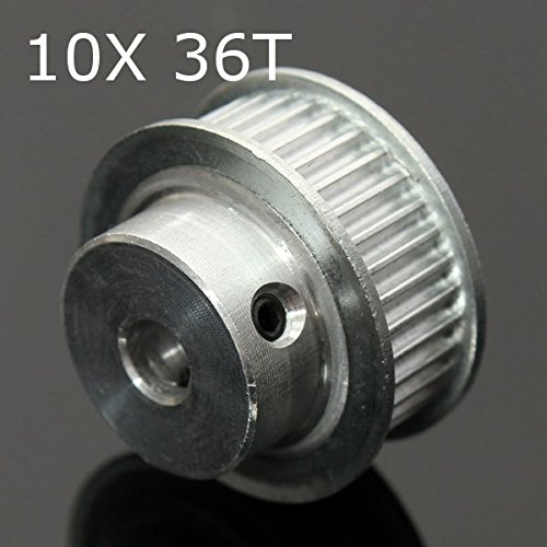 10Pcs 36T GT2 Aluminum Timing Drive Pulley For DIY 3D Printer by SPS_IN