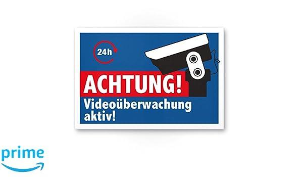 Respect Surveillance vidéo Bouclier (Bleu) - dissuasion/l ...