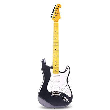 Miiliedy Conjunto de guitarra eléctrica ST Nivel profesional Juego para principiantes adultos Práctica de guitarra electrónica