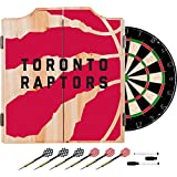 Trademark Gameroom NBA7010-TR2 NBA Dart Cabinet Set with Darts & Board - Fade - Toronto Raptors