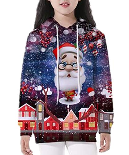 Sweatshirt Birthday Kids (KIDVOVOU 3D Christmas Pullover Hoodies Lighweight Drawstring Pockets Hoody Sweatshirts for Girls Boys)