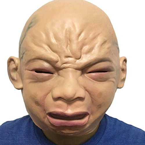 YIWULA Halloween Party Mask Cosplay Disgusting Face Mask Terror Mask Head Mask - Anti Plague Costume