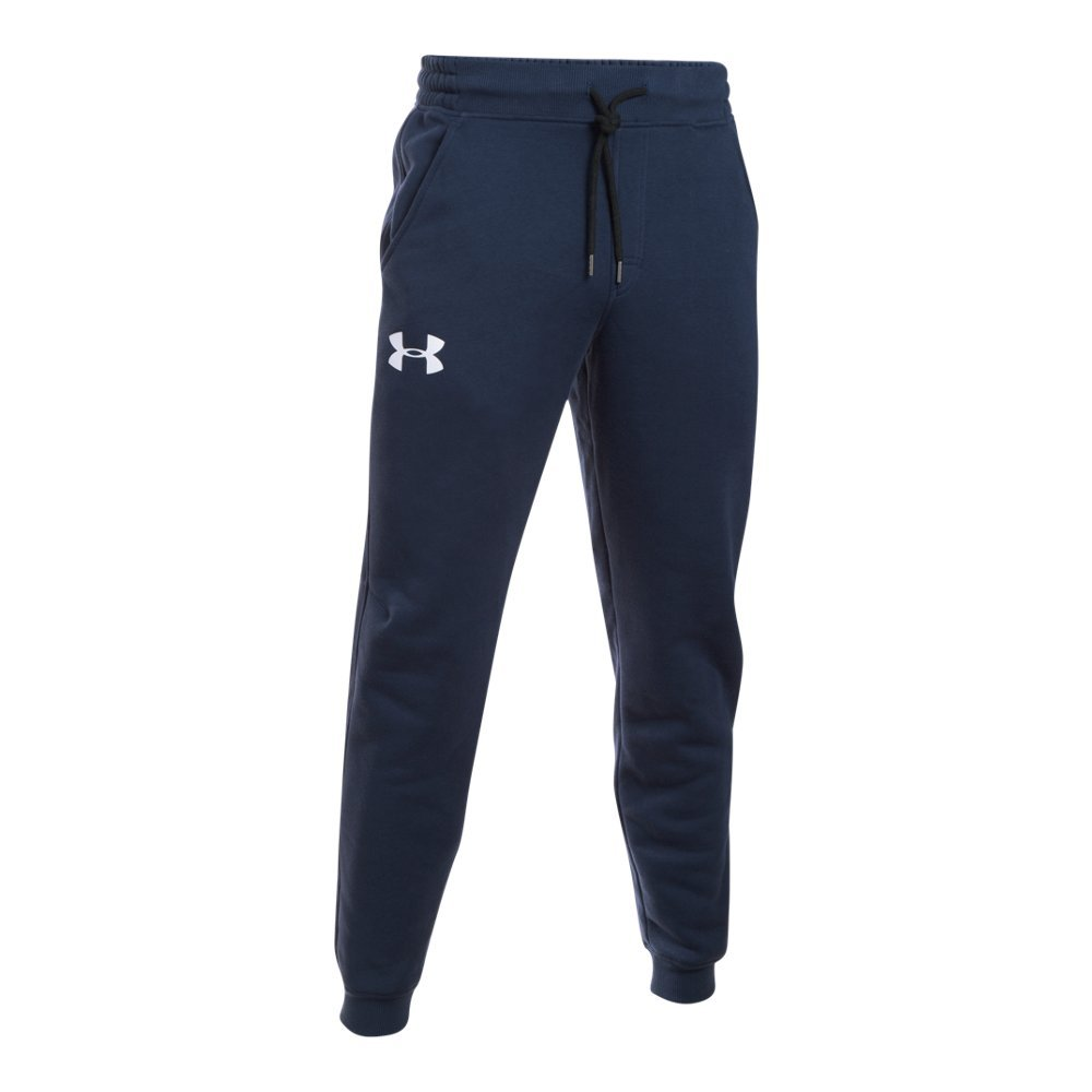 Under Armour Men's Rival Cotton Jogger Pants, Midnight Navy /White, XXXX-Large