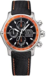Ebel 1911 Discovery Mens Automatic Chronograph Watch 9750L62/53O35N06OS - 1215889