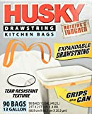 Husky HK13DS090W  Drawstring Kitchen Bags, 90 Count,13-Gallon