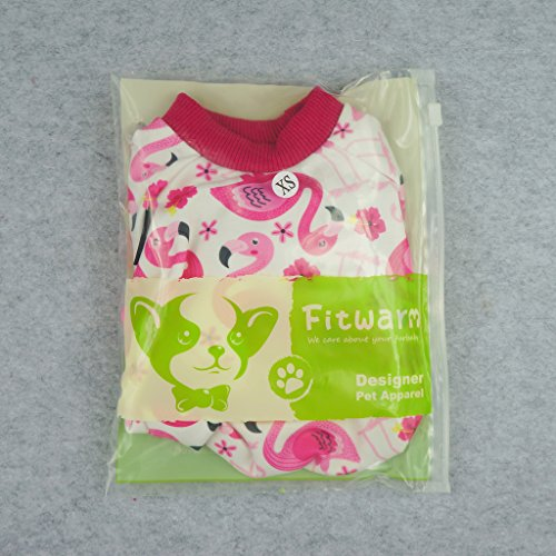 Fitwarm Flamingo Pet Clothes for Dog Pajamas PJS Shirts Jumpsuit Pink Small by Fitwarm (Image #5)