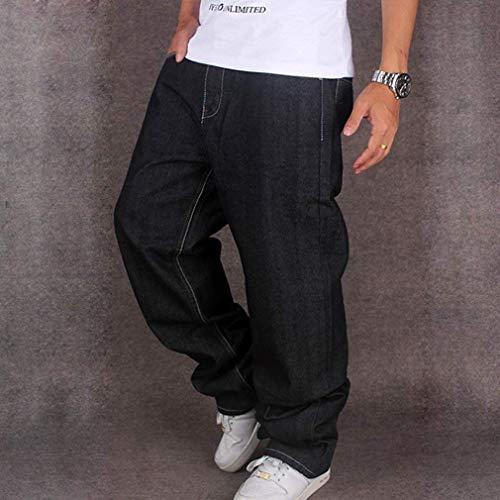 Baggy Denim Droite Noir Style Jeans Skate Garçons Urbain Rap Hip Fit Pour Pantalons Les Hommes Lâche Hipster Adolescents Hop Jambe qYHw7