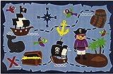 Cheap Ahoy Matey Pirate Treasure 39″x58″ Area Rug