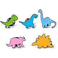 Bullidea Metal Enamel Pin Badge Brooch Cute Little Dinosaur Series Brooch Pins Set Cartoon Brooch Suit Shirt Sweater Pin…
