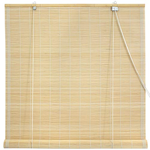 Shade 72 Matchstick Bamboo - Oriental Furniture Matchstick Roll Up Blinds - Natural - (36 in. x 72 in.)