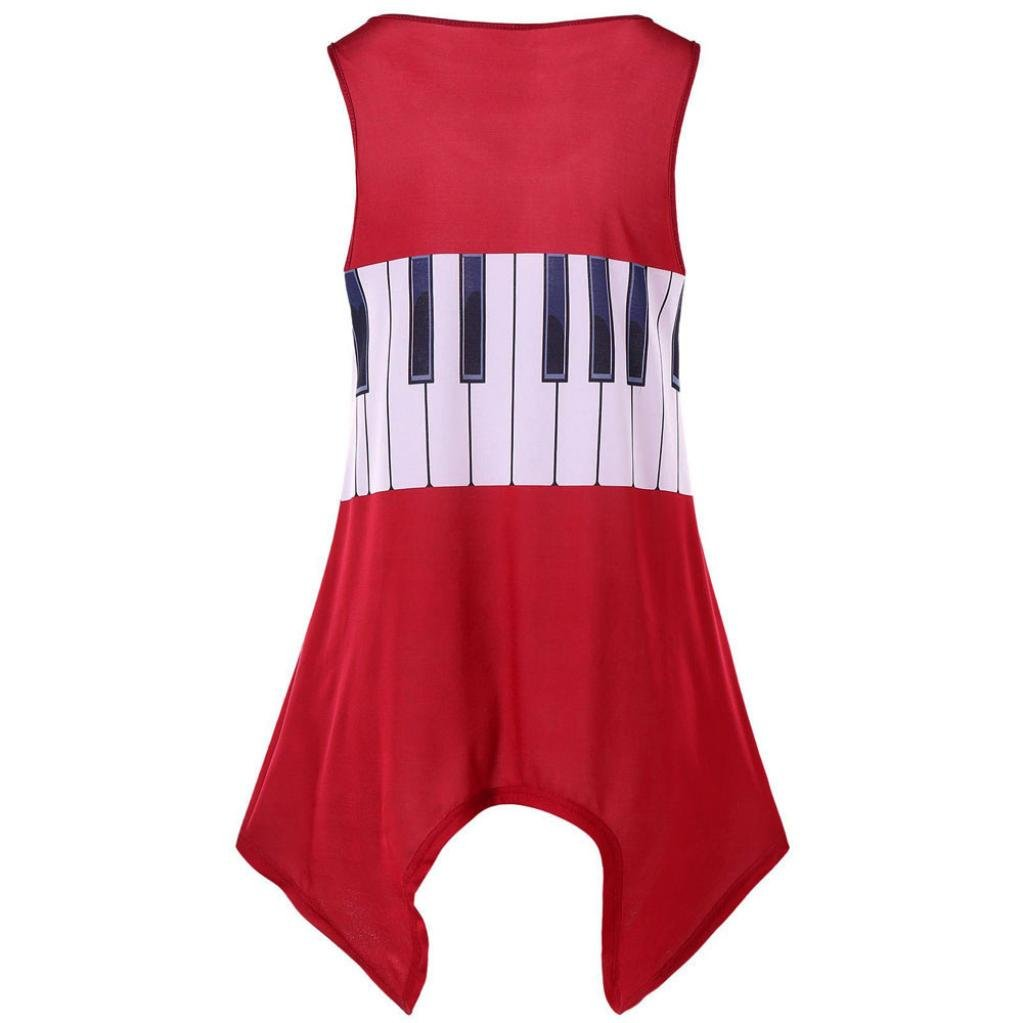 Misaky Women Casual Musical Note Shirt Sleeveless Vest Tank Tops Blouse  Tunic Tops S-2XL at Amazon Women s Clothing store