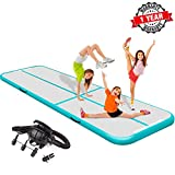 Teriitrack 10ft/13ft/16ft/20ft/23ft/26ft/29ft/33ft/36ft/39ft Air Track Tumbling Mat Air Floor Mat for Gymnastics/Cheerleading/Martial Arts/Parkour/Beach/Home Use