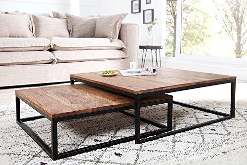 Invicta Interior Design Couchtisch 2er Set Big Fusion Sheesham Stone