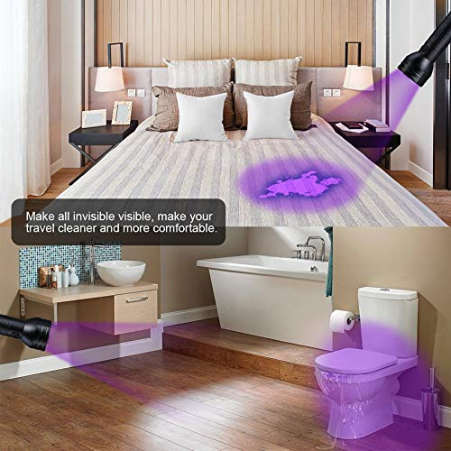 Homrich UV Torch,UV Flashlight for Pet Urine Detector,51 LEDs Ultraviolet Blacklight Stain Detector for Dog Urine,Pet Stains,Scorpion,Bed Bug on Carpet/Rugs/Floor