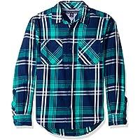Tommy Hilfiger Boys'Long Sleeve Plaid Woven Shirt