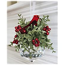 Kissing Krystal Acrylic Prism with Red Cardinal Hanging Ornament by Ganz