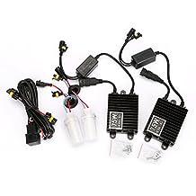 TKOOFN 100W H7 HID Xenon Headlight Bulbs lamp Ballast Replacement Conversion Kit AC4300K