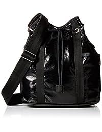 LeSportsac Bucket Shoulder Bag, Black Crinkle Patent, One Size