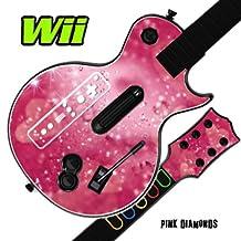 Mightyskins Skin Decal Cover for GUITAR HERO 3 III Nintendo Wii Les Paul - Pink Diamonds