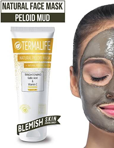 Termalife Peloid Face Mask | 5.1 oz Natural Facial Mask For Deep Pore Cleansing | Treatment of Acne, Best Facial Pore Minimizer, Reduce Wrinkles, Natural Cleaning and Nourishing Face (Anti Stain)