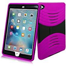 iPad Mini 4 Case, [Heavy Duty] Bvgande Apple iPad Mini 4 (2015 Release) Le Mes Series [Dual Layer] Hybrid Full-body Protective Case with Front Cover and Built-in Kickstand / Bumpers (Pink)