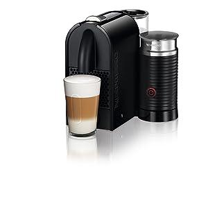 Cafeteira Expresso Nespresso U&Milk 0,8 Litro com Espumador de Leite Preta