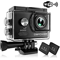 DBPOWER EX5000 Action Camera, 14MP 1080P HD WiFi...