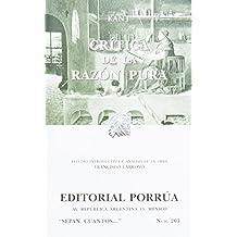 Critica De La Razon Pura (portada puede variar)